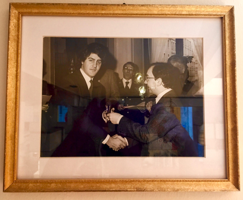 Salvatore Mazzotta con il Sindaco di Milano Carlo Tonioli
